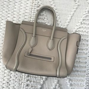 Celine Bags - CÉLINE LEATHER MINI LUGGAGE IN COLOR DUNE